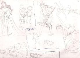 Tinker Bell and Other Sketches by anelphia