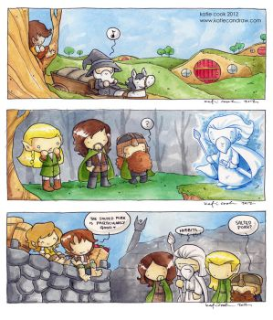 lord of the rings scenes by katiecandraw
