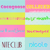Font Pack. by esrawho