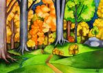 Autumn in the forests of Lorien by RobleskaZeppelin