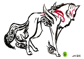 Amaterasu painting by CeruleanInquisition