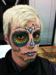 Rainbow Calavera by AngelOfMysteries
