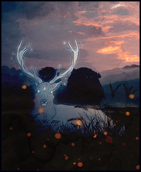 -The White Stag of the Moor- by HennaFaunway