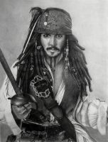captain jack sparrow by javaniles