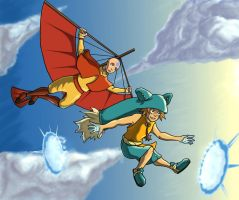 Hangin with Yugo and Aang by ccs1989