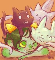 mspa: all of the cats by mayakern