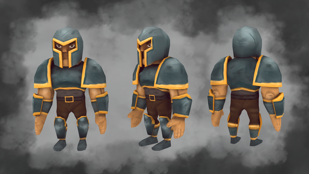 Low Poly Warrior by Guizx