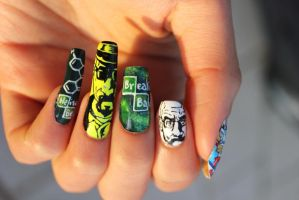 Breaking Bad nail art by ChiquisArt