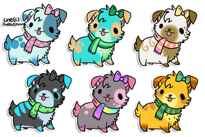 Dog Adoptables(open) by PrePAWSterous