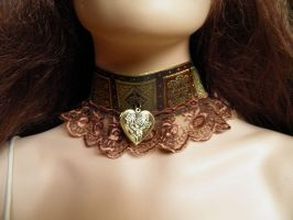 Steampunk-Victorian choker PCCH16 by JanuaryGuest