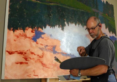 Painting in the studio by David-McCamant