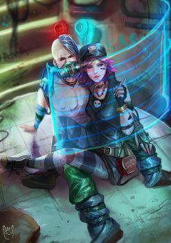 :CM: Krieg and Gaige (borderlands) by talitapersi