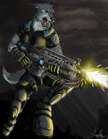 Gears of war wolf by RecklessJack