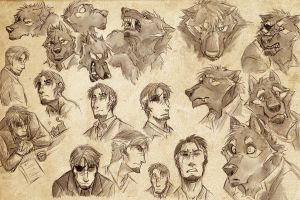 Expression Sheet - J.J. by paintaloosa