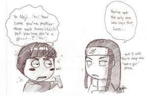 Neji's Moment with Rock Lee by RDelacroix