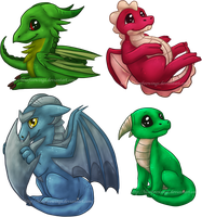 Dragons from DC by Bluefirewings