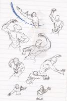 waterbending Sketch poses by moptop4000