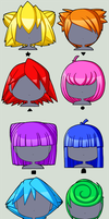 Fun with Hair Shapes by CubeWatermelon