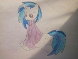 Vinyl Scratch in pullover by Dont-worry-cookie
