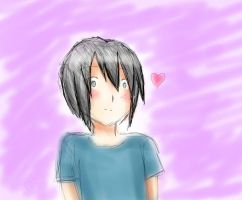 Fast drawing of Hiroshi xD (watercolour style? :D) by Rozala