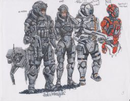 Soldiers quick sketch by HorcikDesigns