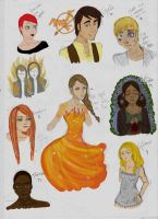 The Hunger Games - Doodles by Spaceparties