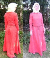 Red medieval dress by numberjumble
