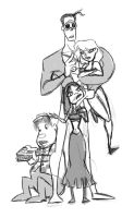 Kyle Baker's Family Sketch by MissKeith