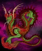 Asian Dragon Color by Airegon