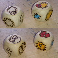Blood Bowl Block Dice by Dornogol