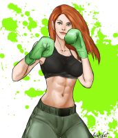 Kim Possible as a boxer by KnottSoFast