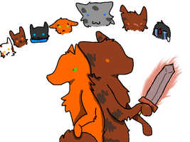 Brambleclaw Vs The Clans by ipodsaysrawr