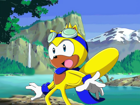 Ray the Flying Squirrel: Sonic X Style by cupman11