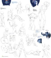 Intermediate Female poses by Precia-T