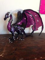 Cynder Sculpture by KatiesClayCreatures