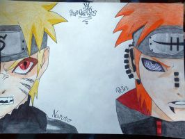 Naruto and Pein by whozZy94