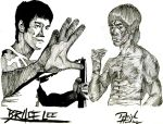 Bruce Lee Tribute by ArtisticallyBadAss