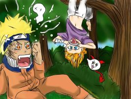 Naruto and OC, fun times eh? }:3 -for contest- by Manny9591