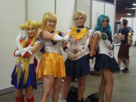 AnimeNext 2015 Sailor Moon Venus Uranus Neptune by inugrl6