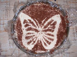 Banoffee pie (with a butterfly) by Somebodyloving
