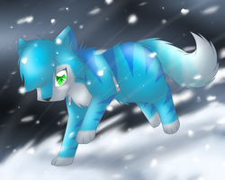 Running against the Snowstorm by FlareAKACuteFlareon