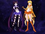 Sailor Sun and Sailor Charon by AlineQueen-ofsailors
