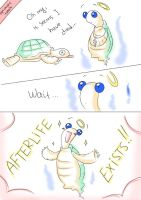 Optimistic Turtle faces the Inevitable by solray-chan