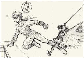 Nightwing+Robin by eguana
