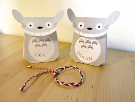 Totoro Gift Bags and Bracelets by bonztee