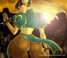 Chun li Sunset by Osmar-Shotgun