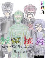 Kick-Ass and his Allies by Chotetsumaru