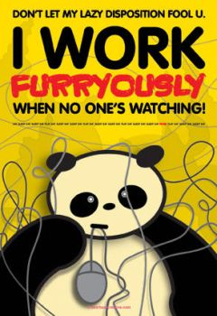 Panda work ethics... by BearBearCreative