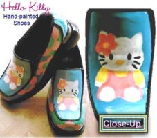 Hello Kitty Shoes by cyreneq