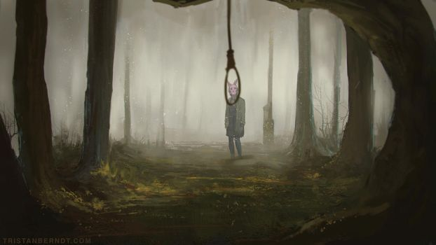 Lonely Girl by TristanBerndtArt